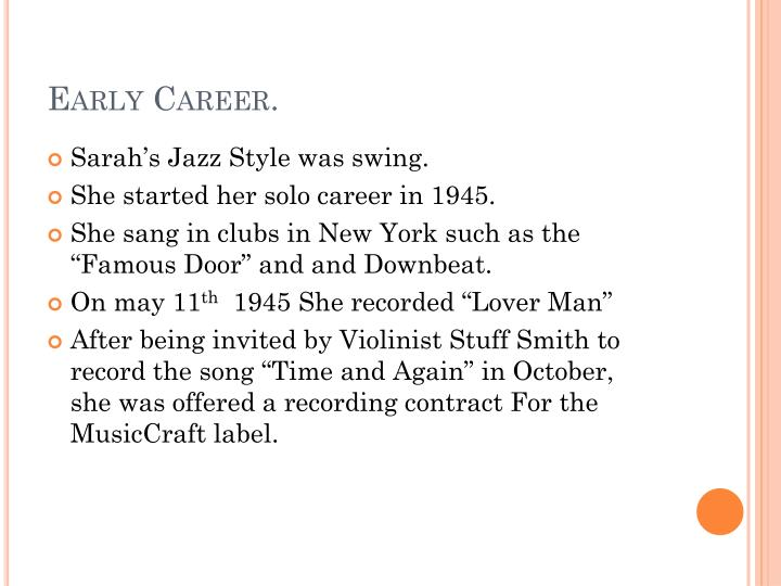 Early Career.