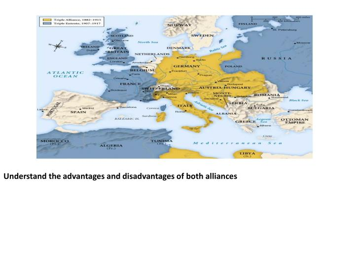 Understand the advantages and disadvantages of both alliances