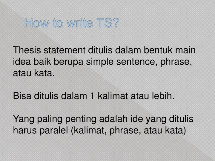 How to write TS?