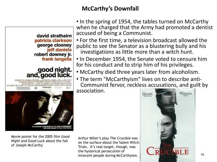 McCarthy's Downfall