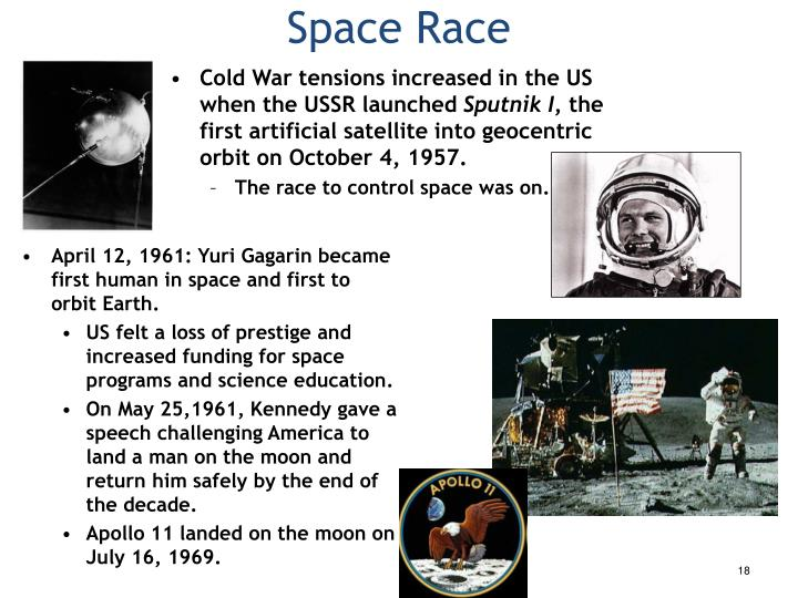 Cold War tensions increased in the US when the USSR launched