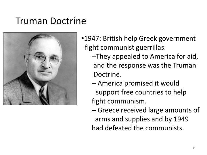 1947: British help Greek government
