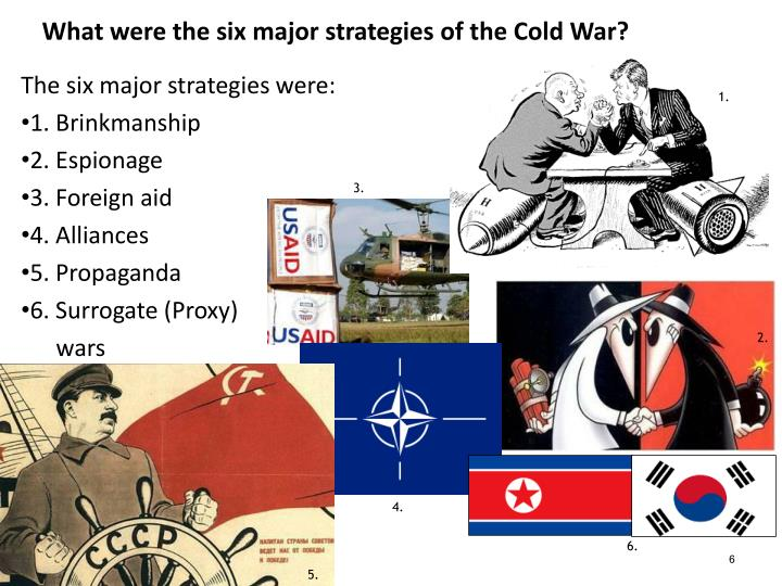 The six major strategies were: