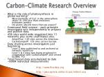 carbon climate research overview