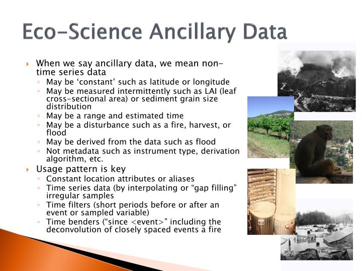 Eco-Science Ancillary Data