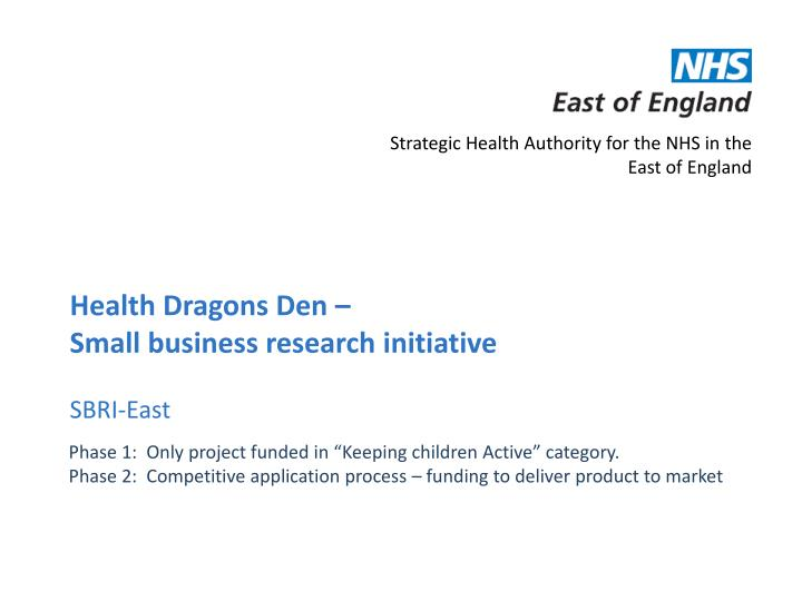 Strategic Health Authority for the NHS in the East of England