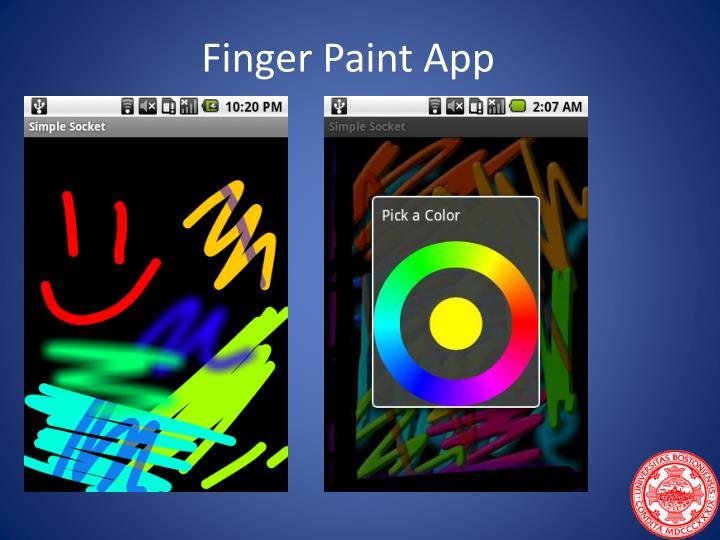 Finger Paint App