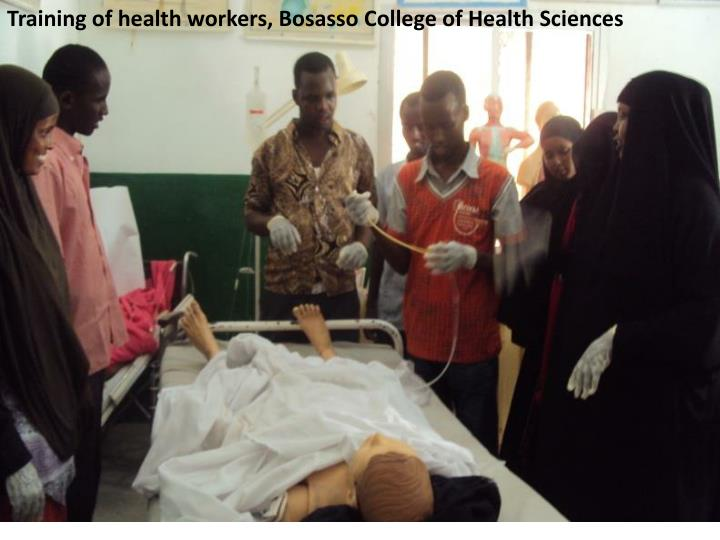 Training of health workers,