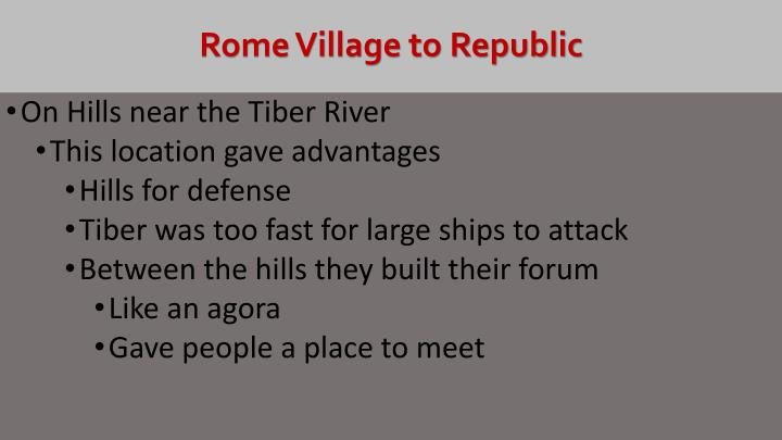 Rome village to republic1
