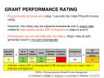 grant performance rating