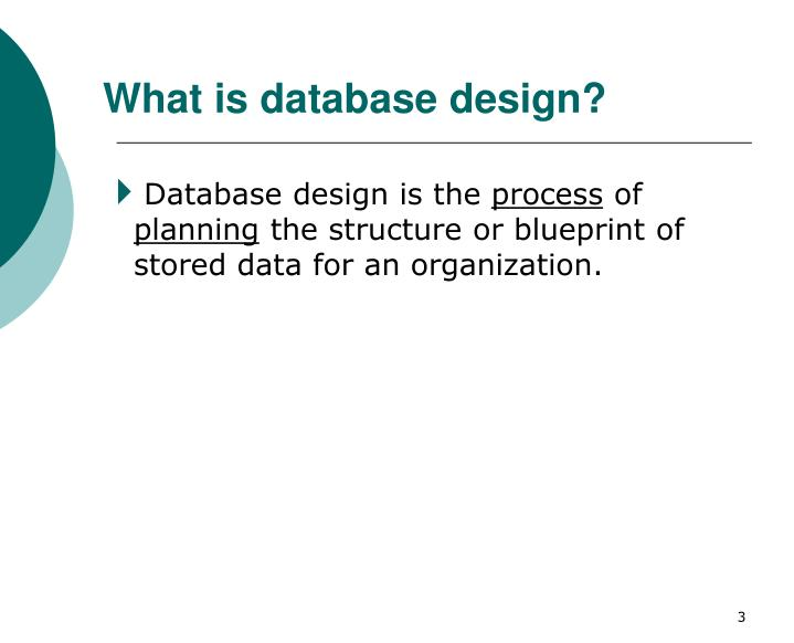 What is database design