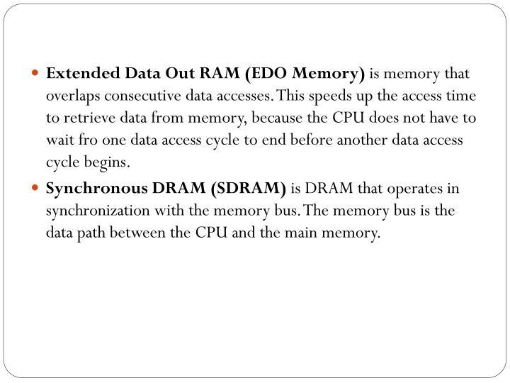 Extended Data Out RAM (EDO Memory)