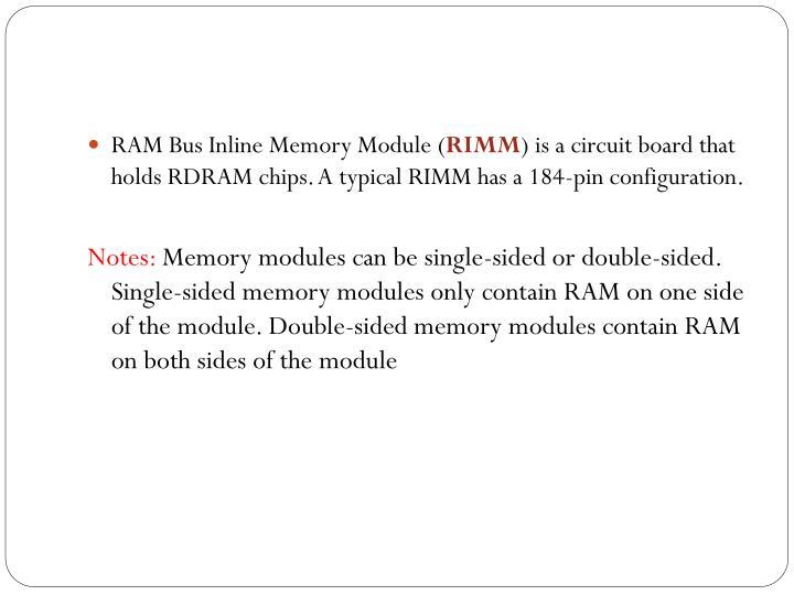 RAM Bus Inline Memory Module (
