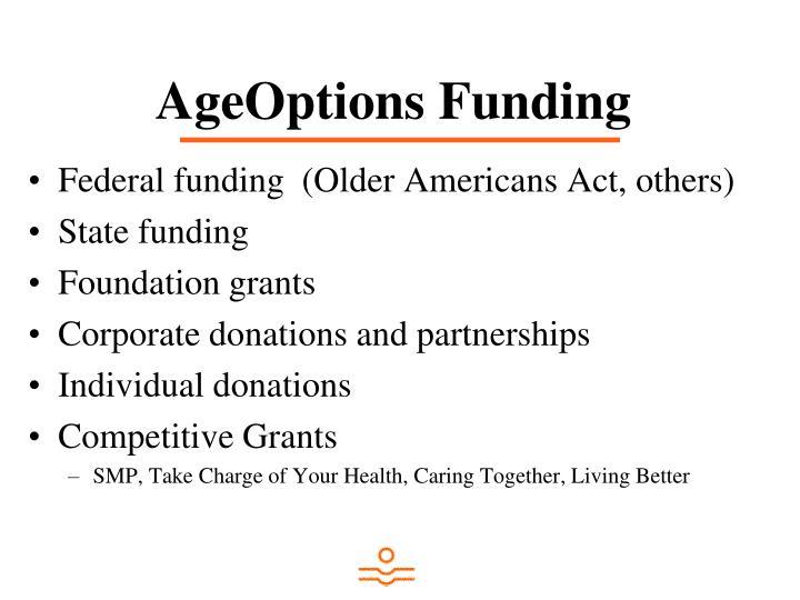AgeOptions Funding