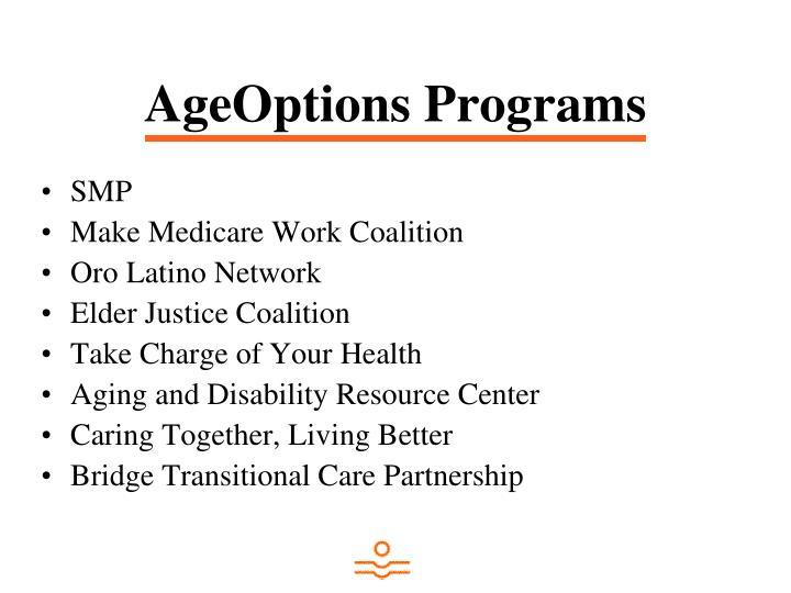 AgeOptions Programs