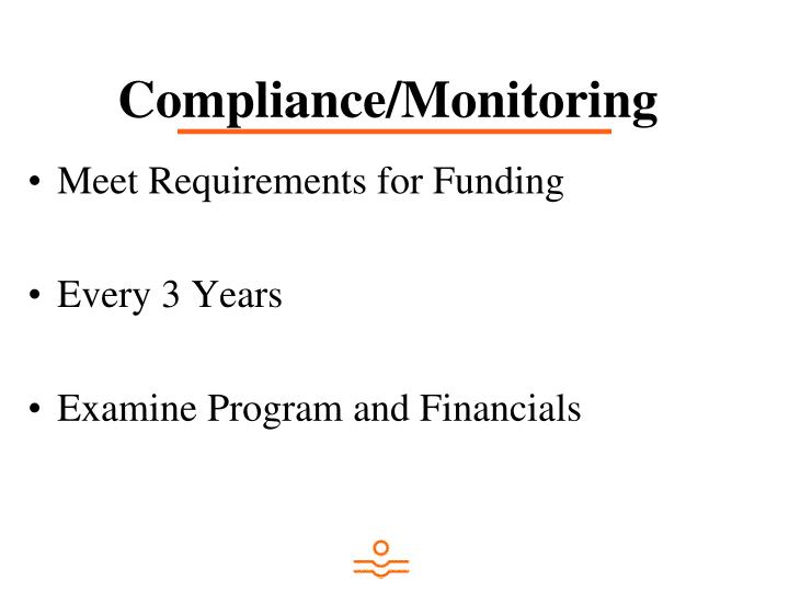 Compliance/Monitoring