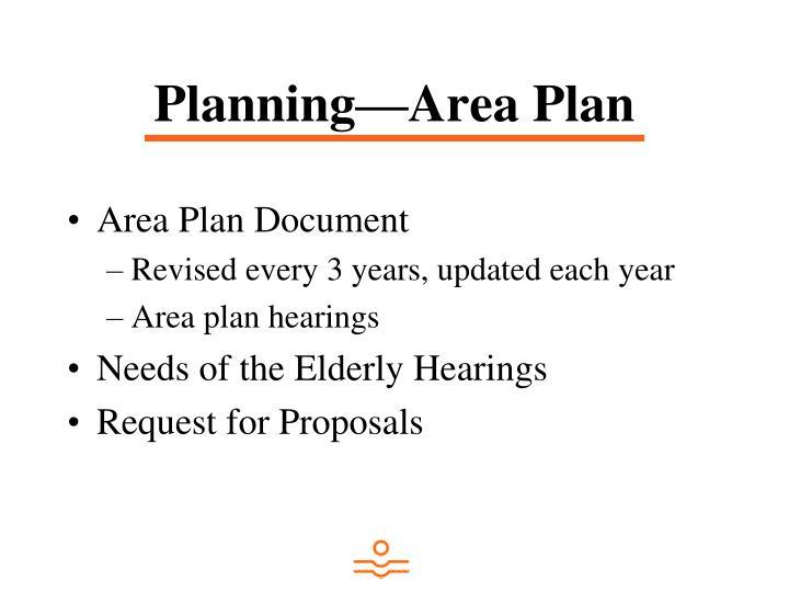 Planning—Area Plan