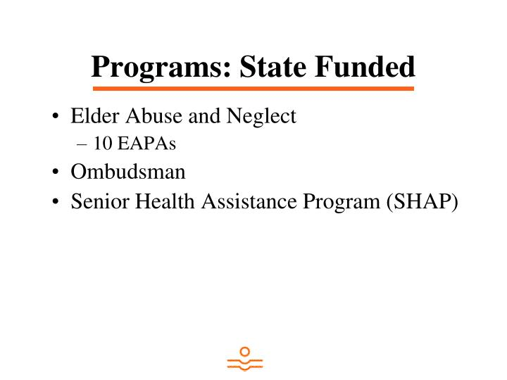 Programs: State Funded