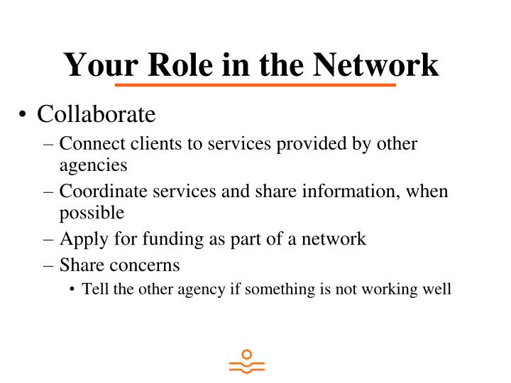 Your Role in the Network