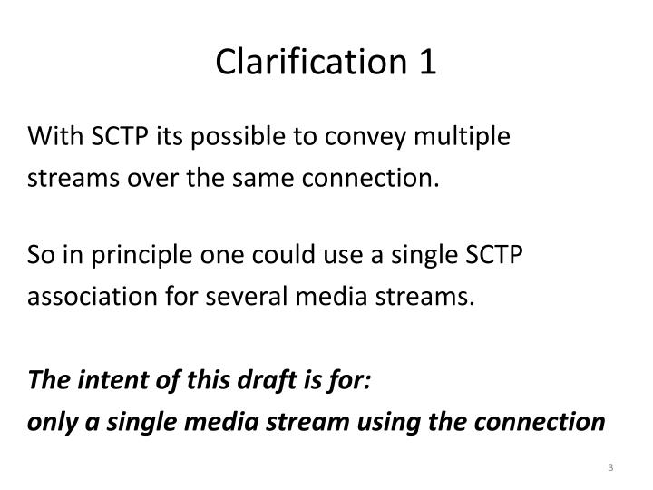 Clarification 1