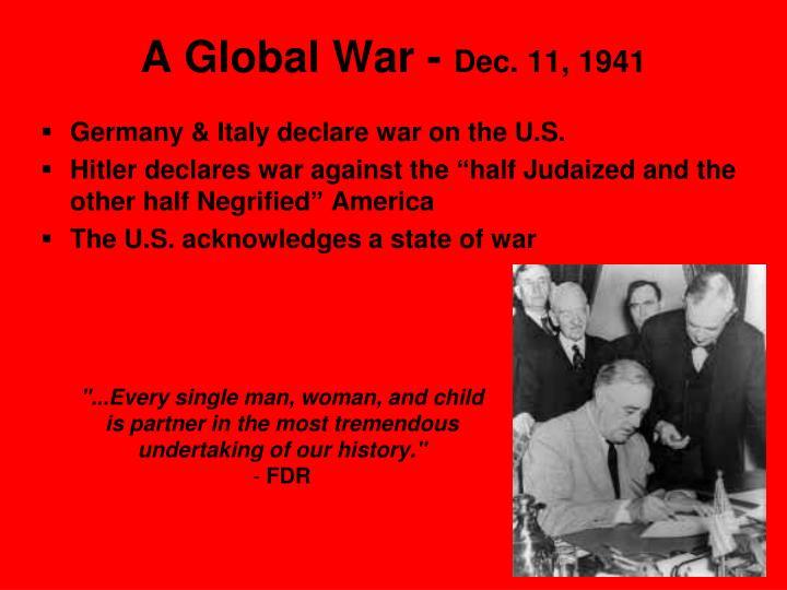 A Global War -