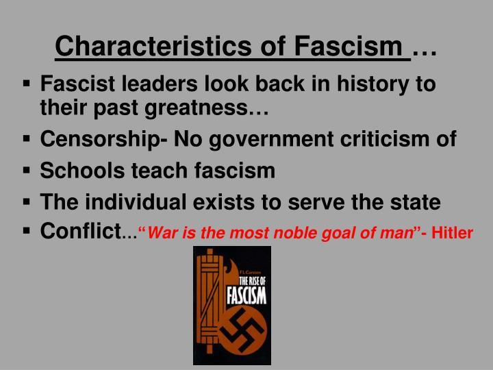Characteristics of Fascism