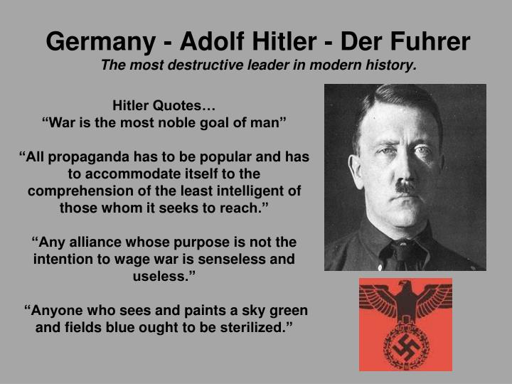 Germany - Adolf Hitler -