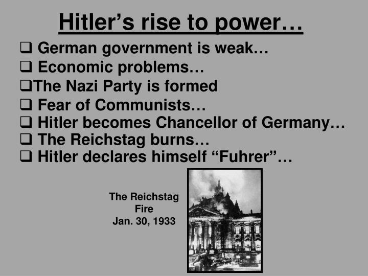 Hitler's rise to power…