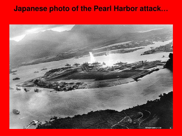 Japanese photo of the Pearl Harbor attack…