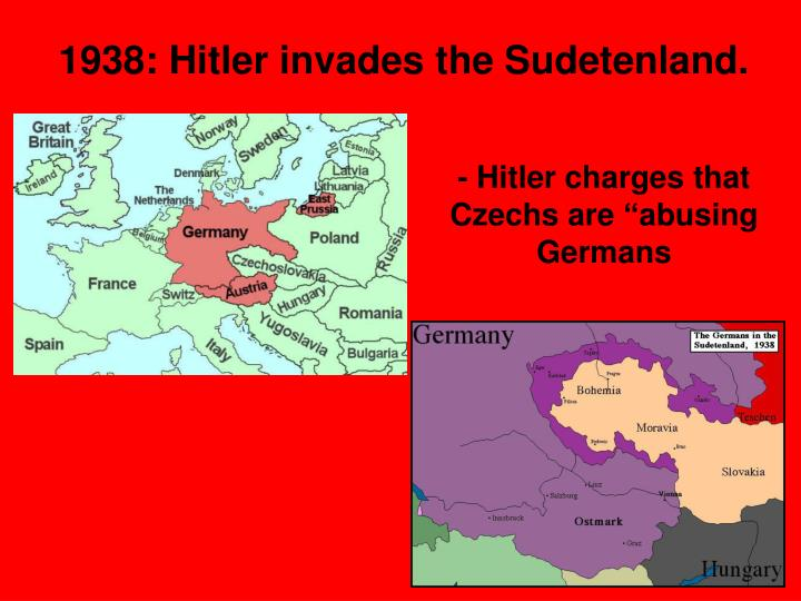"- Hitler charges that Czechs are ""abusing Germans"
