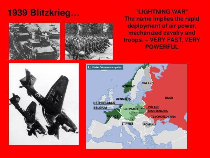 """""""LIGHTNING WAR"""""""