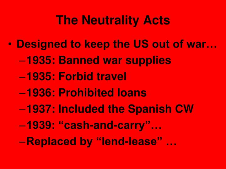 The Neutrality Acts