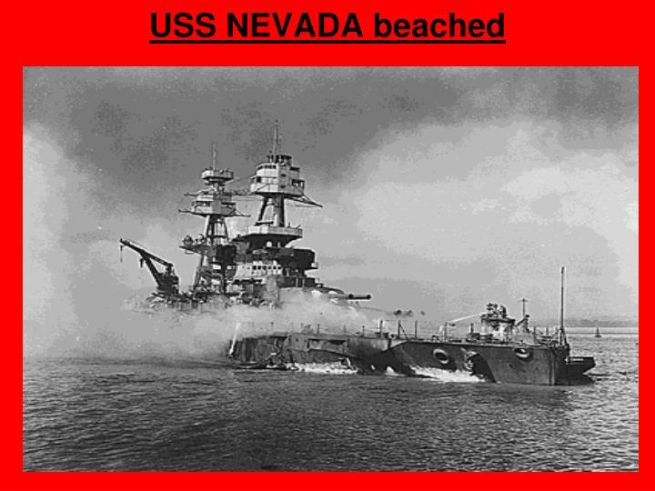 USS NEVADA beached