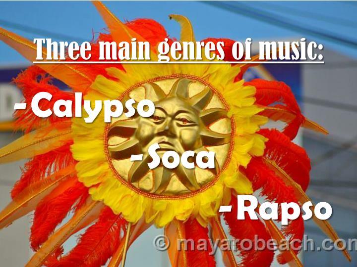 Three main genres of music: