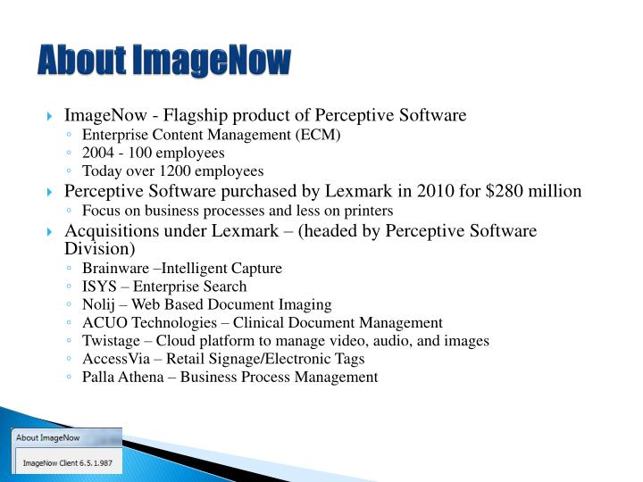 About ImageNow