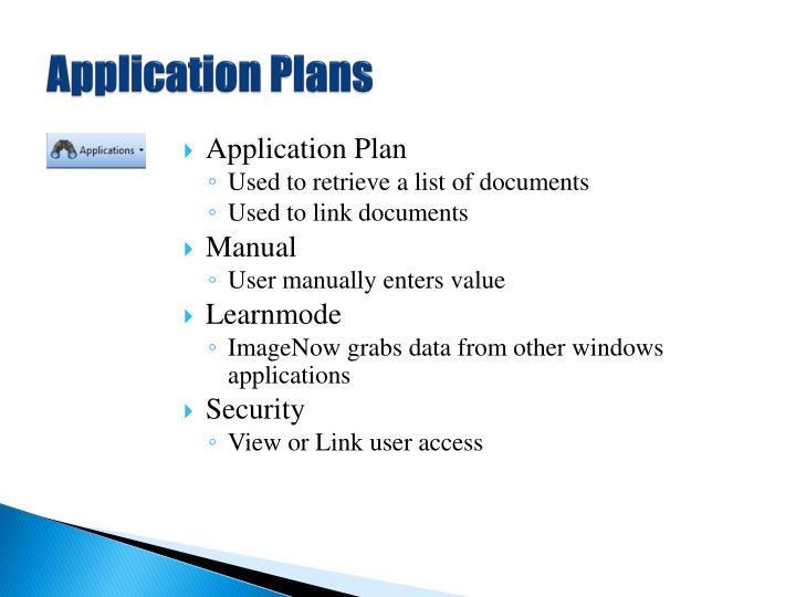 Application Plans