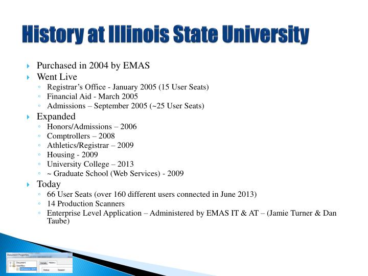 History at illinois state university