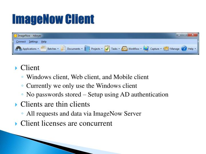 ImageNow Client