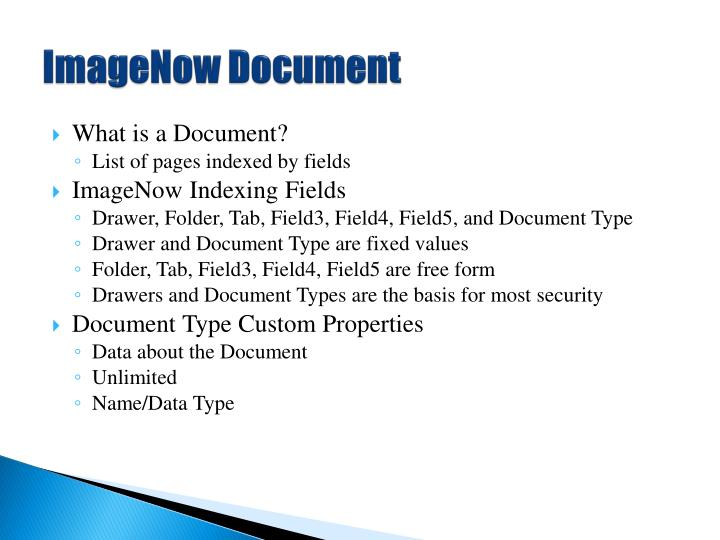 ImageNow Document