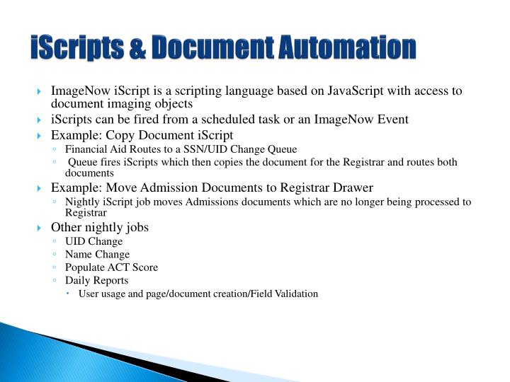 iScripts & Document Automation