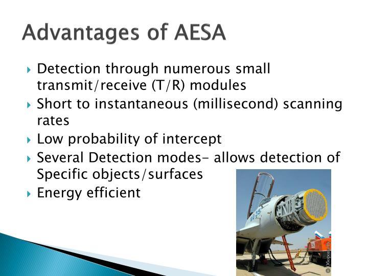 Advantages of AESA