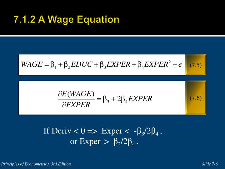 7.1.2 A Wage Equation