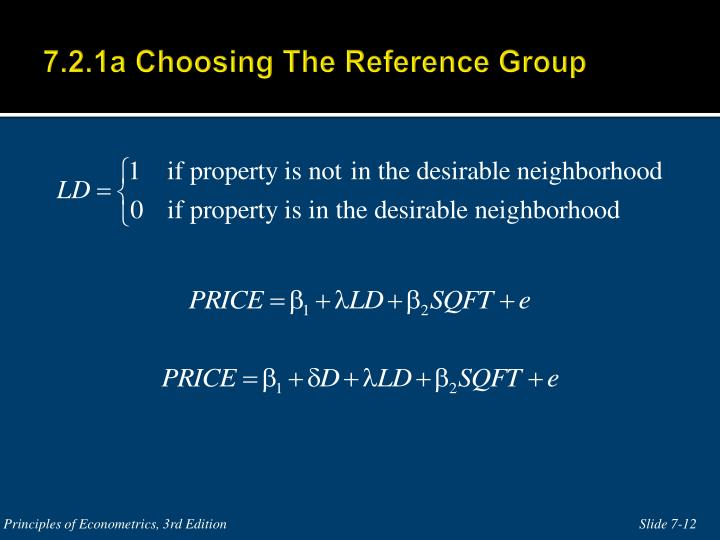 7.2.1a Choosing The Reference Group