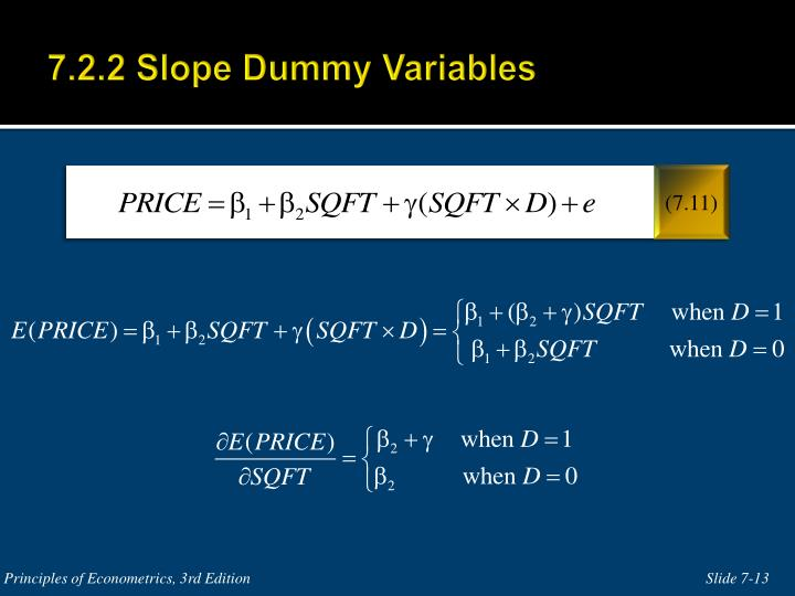 7.2.2 Slope Dummy Variables