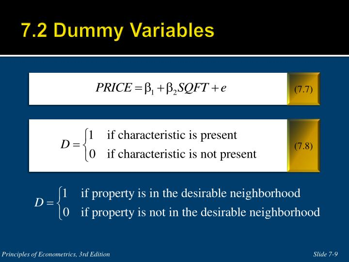 7.2 Dummy Variables