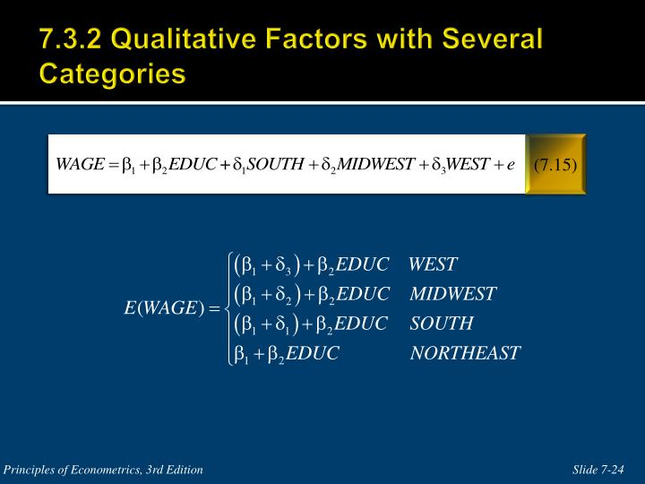 7.3.2 Qualitative Factors with Several Categories