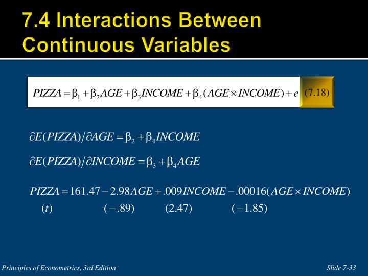 7.4 Interactions Between Continuous Variables