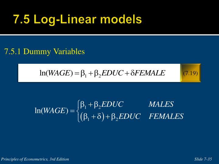 7.5 Log-Linear models