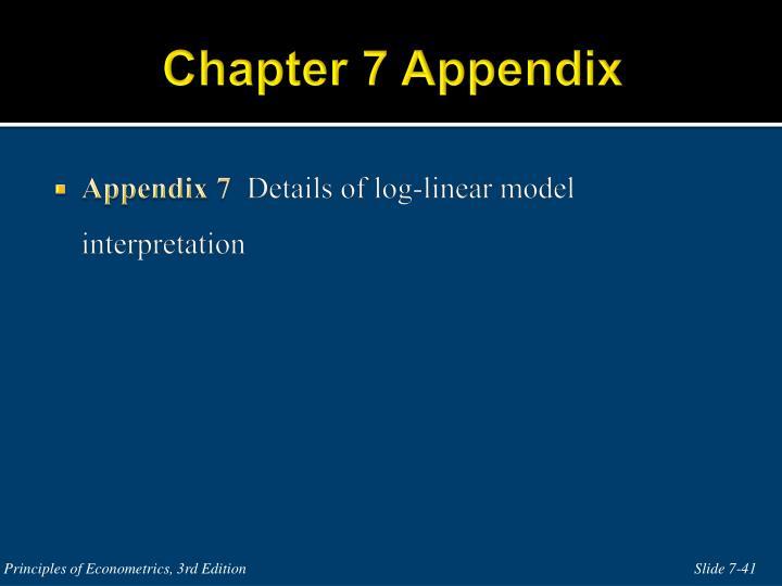 Chapter 7 Appendix