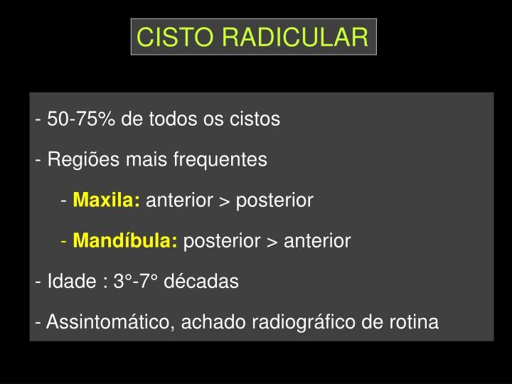 CISTO RADICULAR